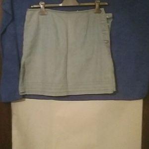 Light blue denim skirt/shorts